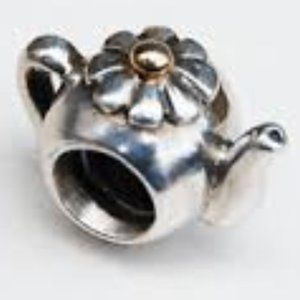 *NWOT* Pandora TwoTone Teapot Charm - RETIR…